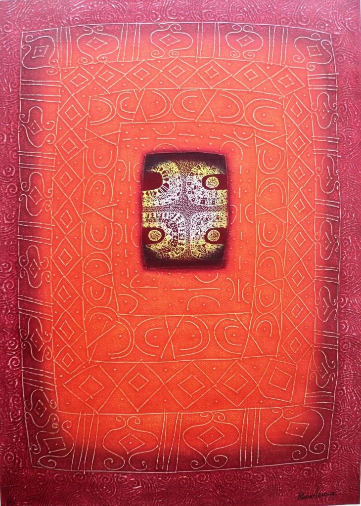Copia de vision del yagé, 70x50 cm.